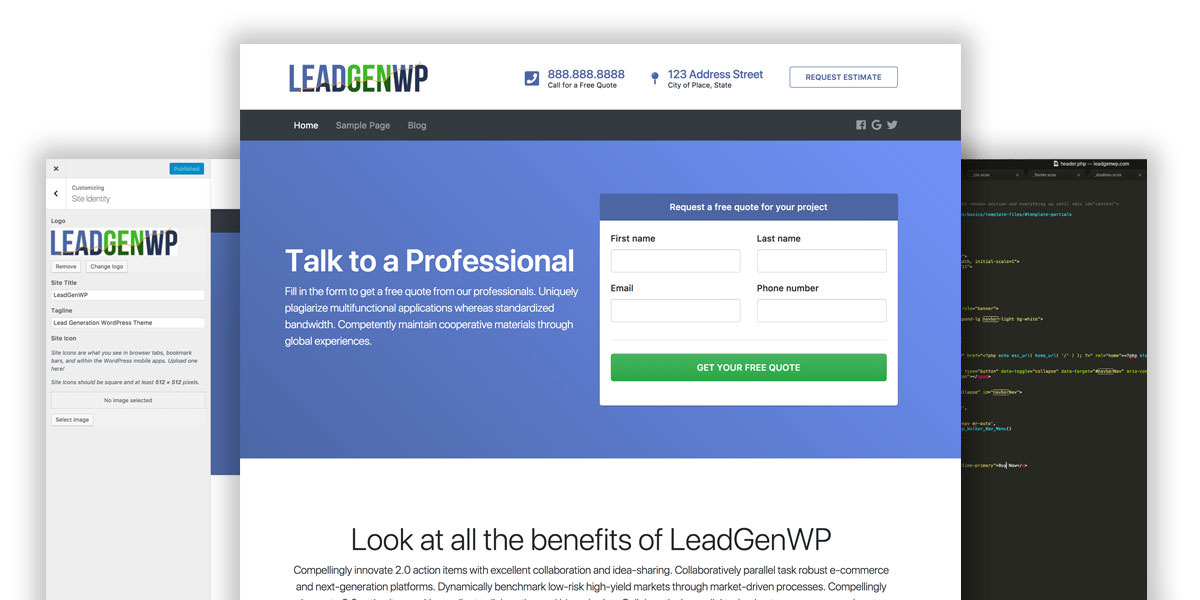 LeadGenerationWP Themes